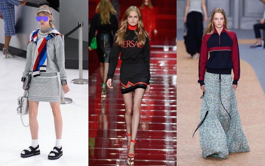 3 look con felpa di Chanel, Versace e Chloè