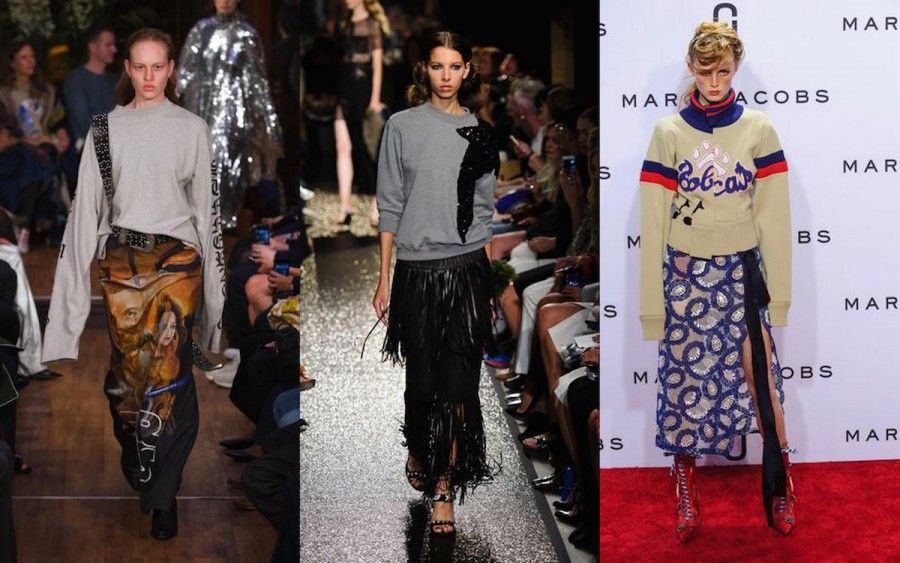 look da passerella di vetements, rykiel e Marc Jacobs