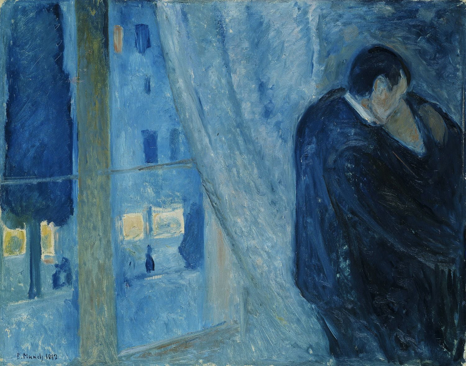 Edvard_Munch_-_Kiss_by_the_window_(1892)