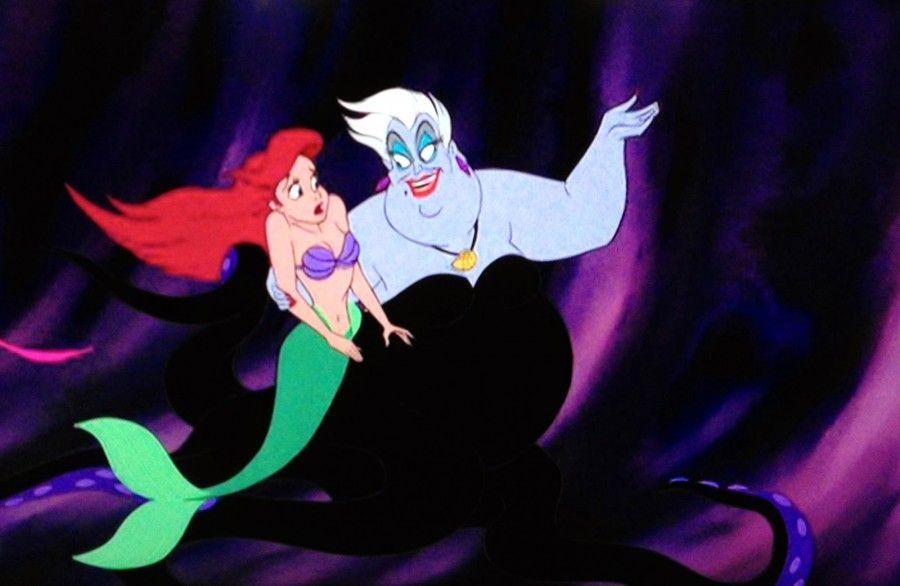 Ariel e la strega Ursula in La Sirenetta