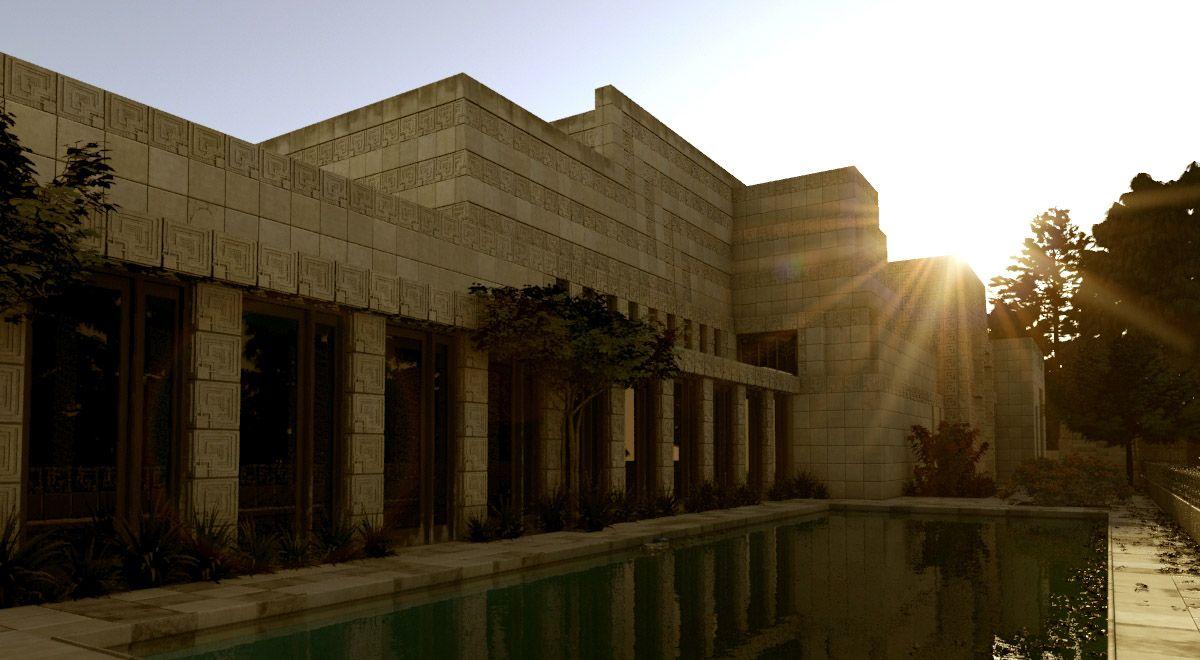 ENNIS HOUSE. Frank Lloyd Wright
