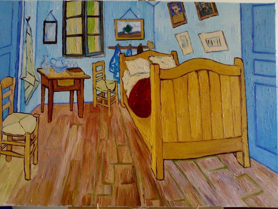 Dormire nel quadro della camera di van gogh possibile for Disegni della stanza del fango