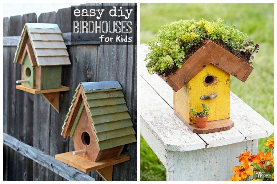 Birdgarden trasforma il tuo giardino in un 39 oasi naturale - Casette per uccellini da costruire ...