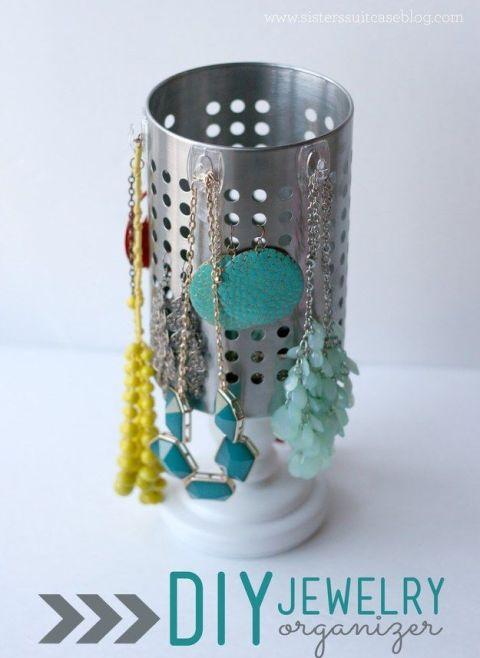 7 modi alternativi per usare il porta posate ikea bigodino - Porta gioielli ikea ...