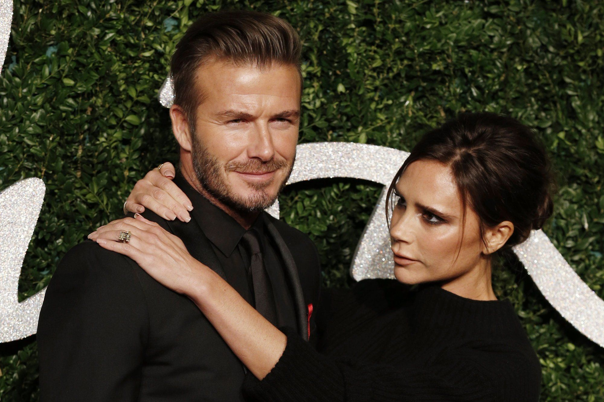 David Beckham con la moglie Victoria