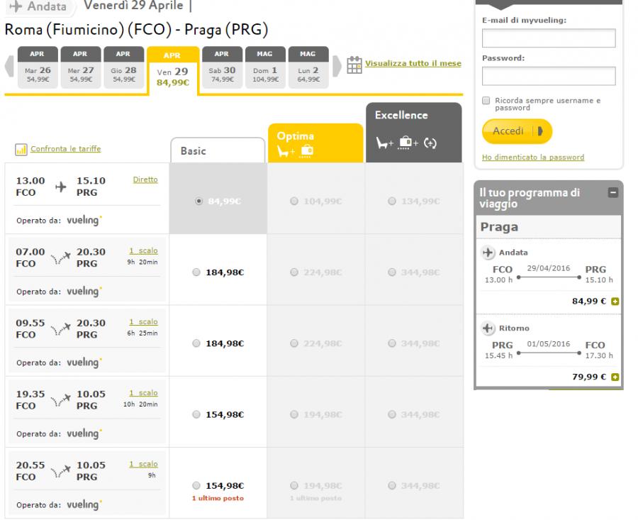 Come prenotare un volo low cost per Praga