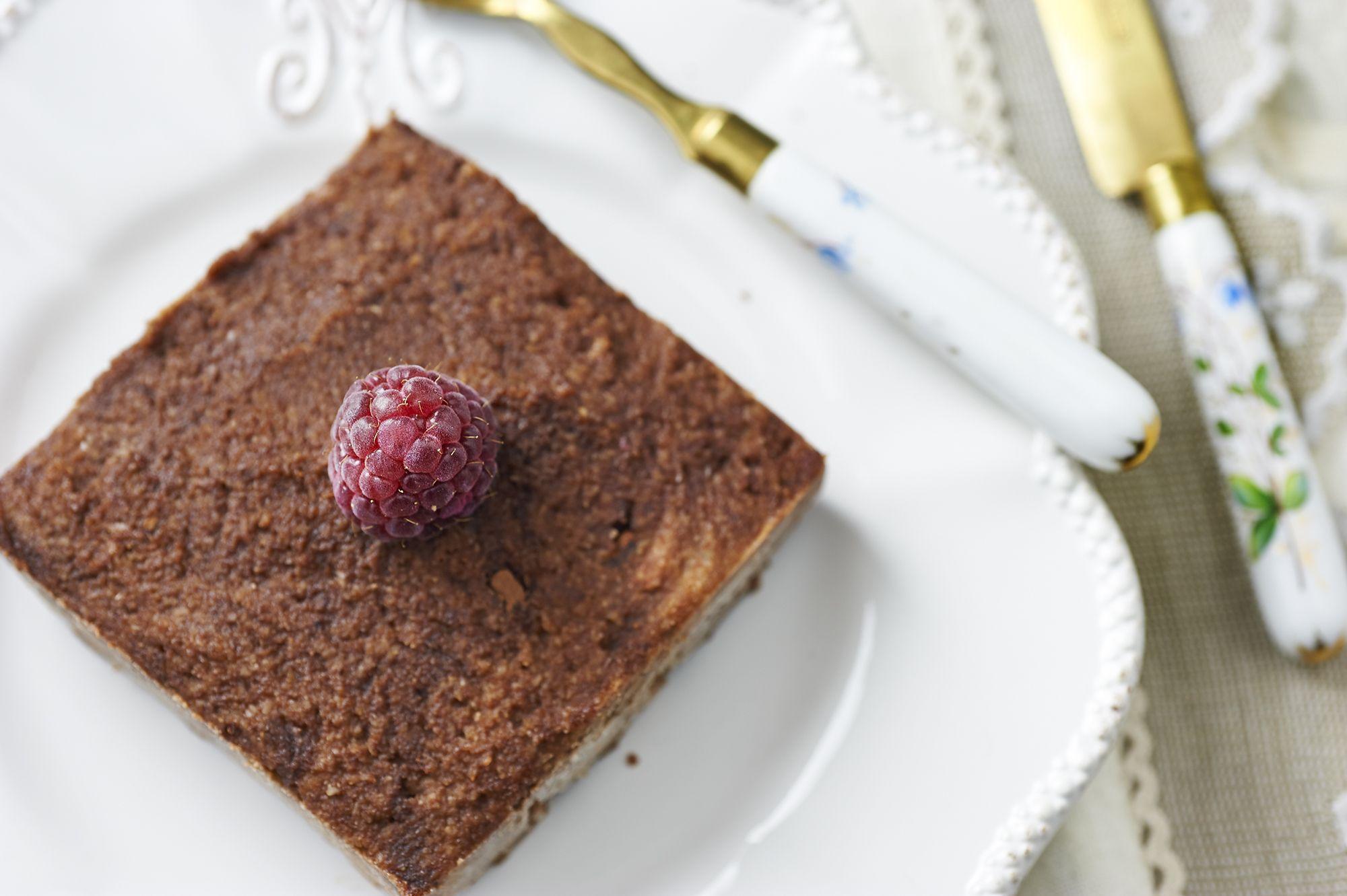 La torta al cioccolato senza cottura