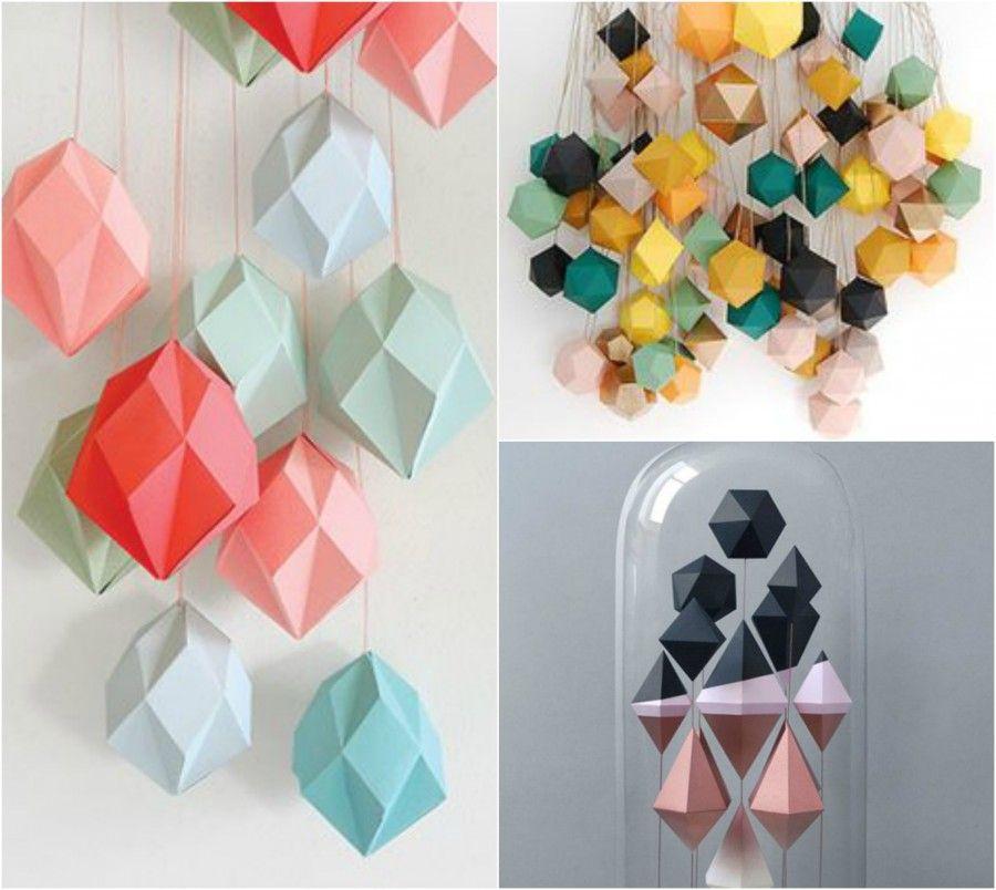 Diy decorazioni di design con cartoncino bigodino - Decorazioni con cartoncino ...