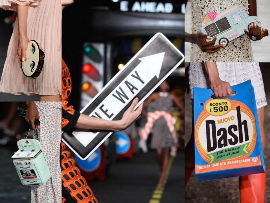 Borse super divertenti di Moschino, Au Jour le Jour, Betsely Johnson e Fetherson