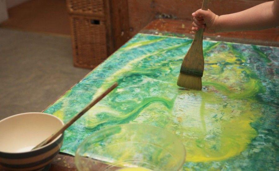 Iris e un dipinto