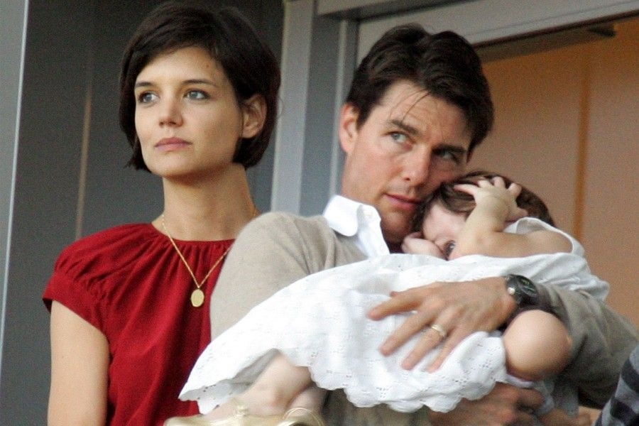 Katie Holmes e Tom Cruise con la piccola Suri