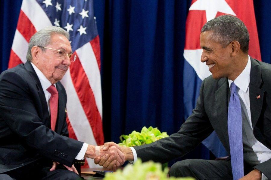 Obama e Raùl Castro