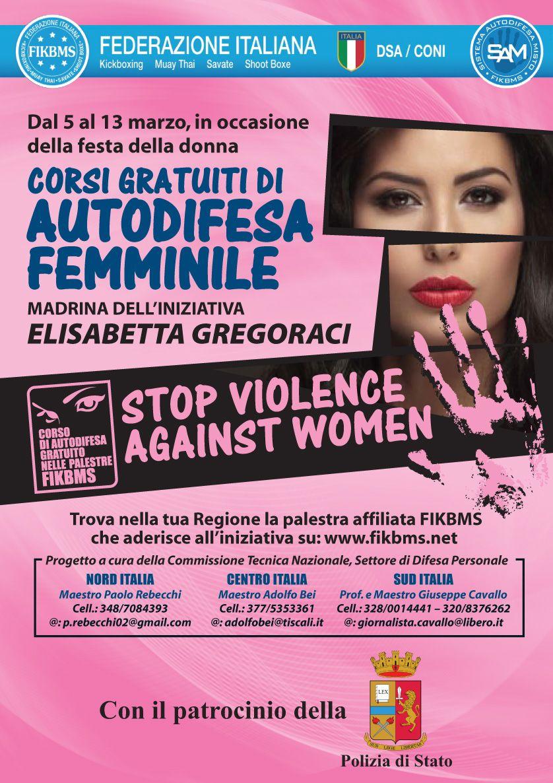 """Locandina """"Corsi gratuiti di autodifesa femminile"""""""