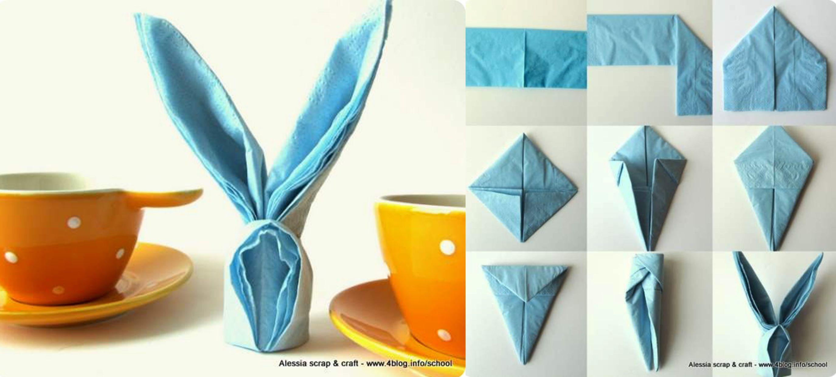Tovaglioli di carta. Coniglio pasquale