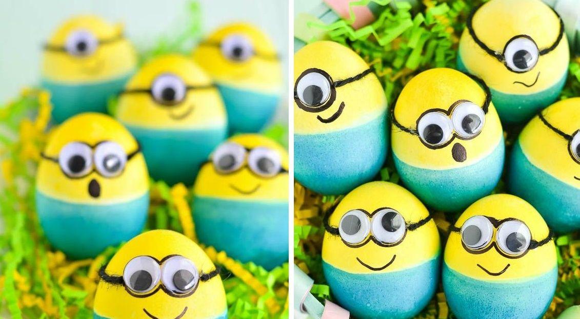 8 decorazioni originali per le uova di pasqua bigodino - Uova decorate per bambini ...
