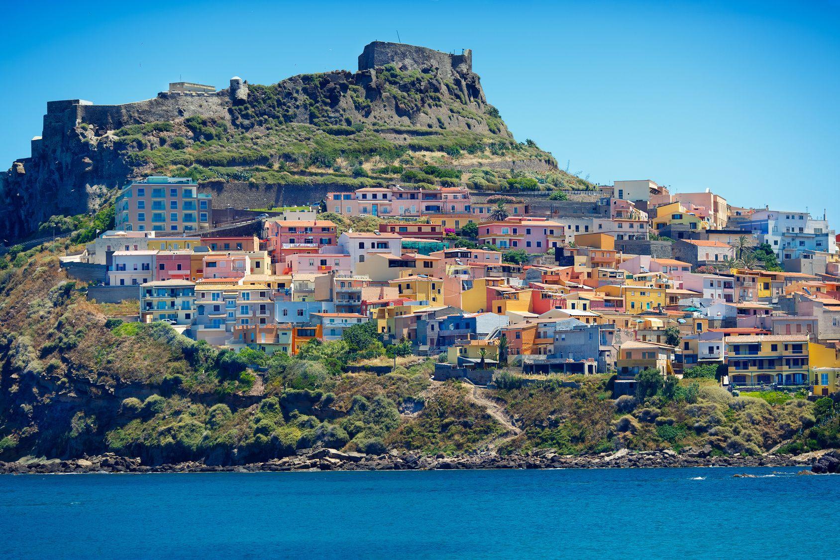 Beautiful medieval town Castelsardo on the north coast of Sardinia island, Italy