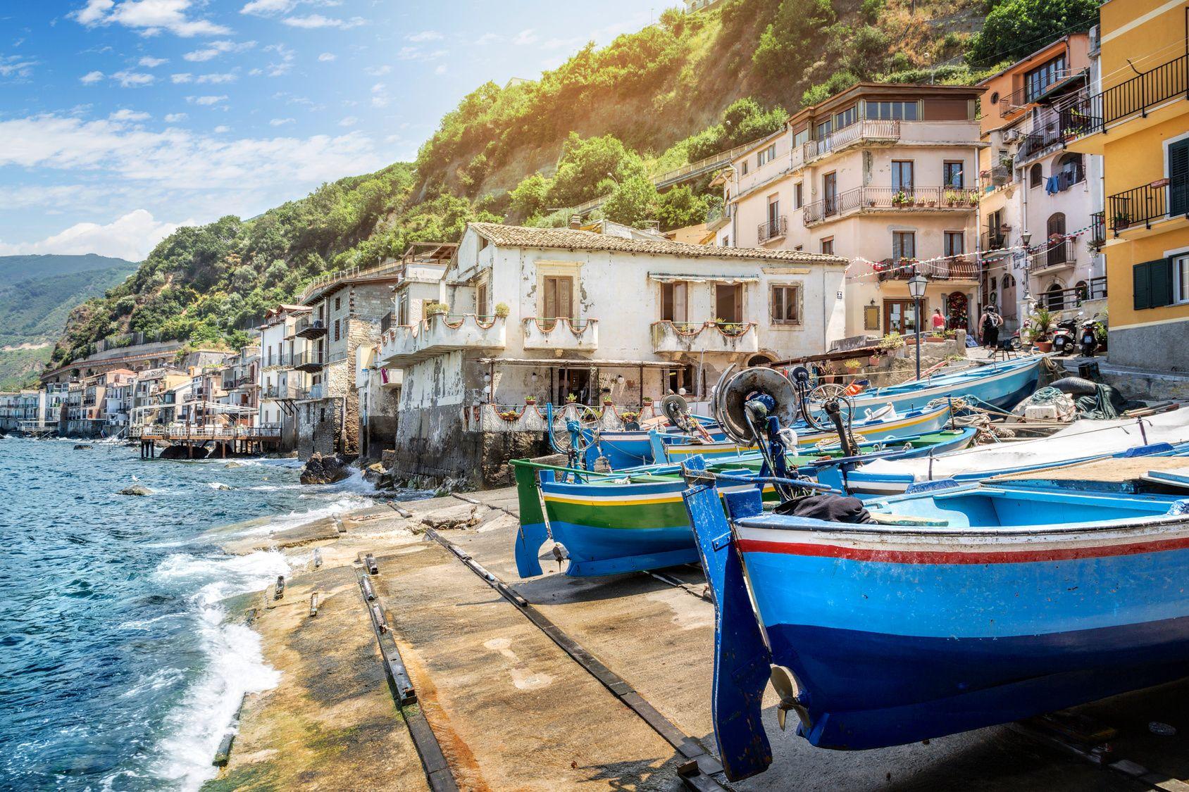 Fishing village in calabria, Scilla, Italy