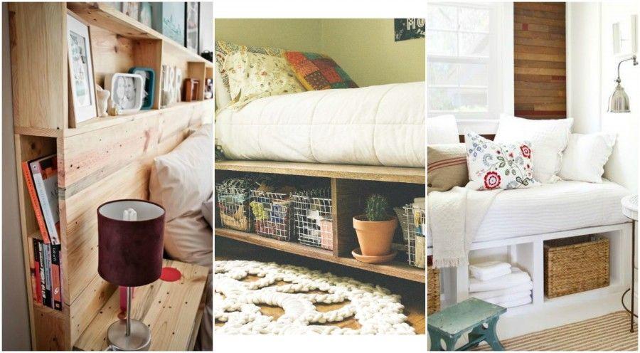 5 idee per arredare camere da letto piccole bigodino for Mobili contenitori