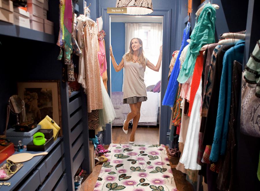 La cabina armadio di Carrie Bradshaw