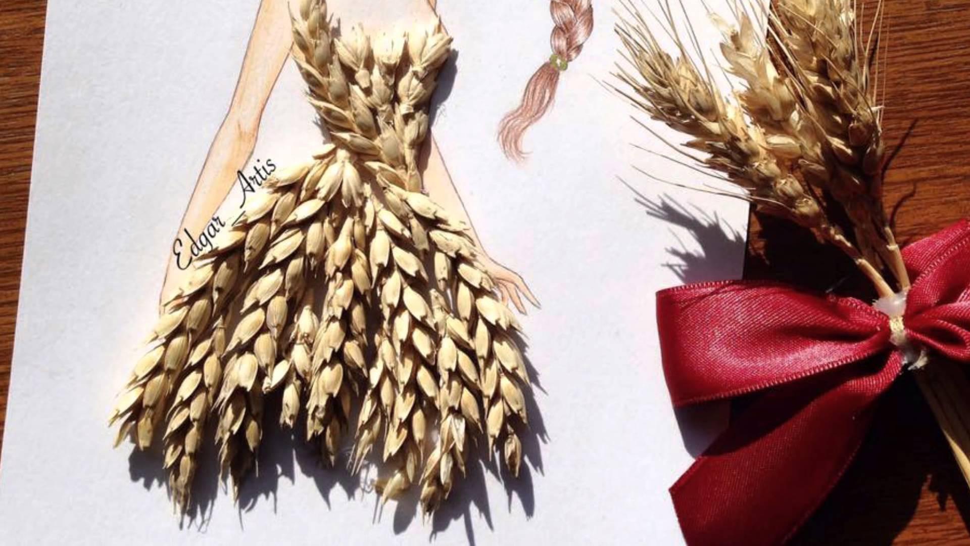 Il cibo diventa moda con le illustrazioni degli abiti di Edgar Artis