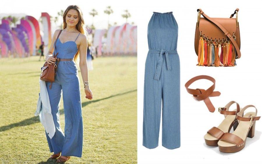 Una salopette di jeans e pochi semplici accessori