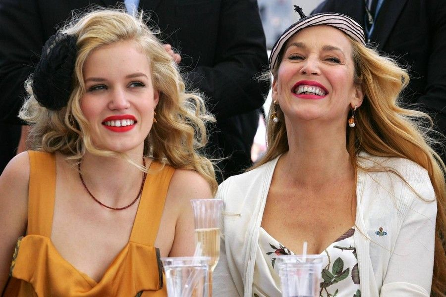 Georgia May Jagger e Jerry Hall