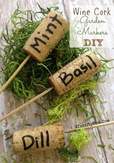 9 idee creative per segna erbe aromatiche fai da te bigodino - Sughero pianta da giardino ...