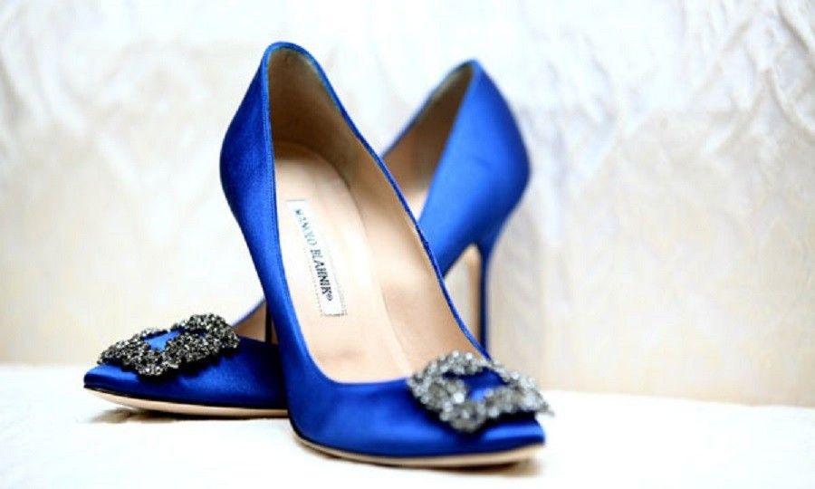 Manolo-Blahnik-Jeweled-Blue-Satin-Wedding-Shoes