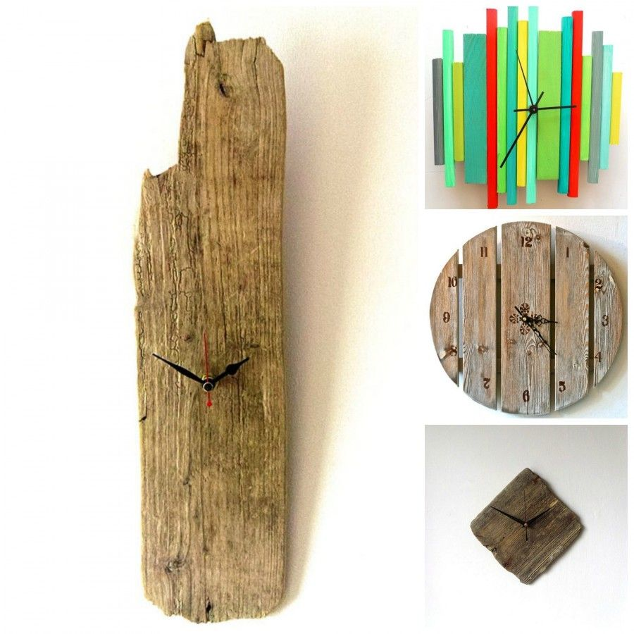 Orologi semplicissimi e originali per il tuo fai da te - Parete in legno fai da te ...