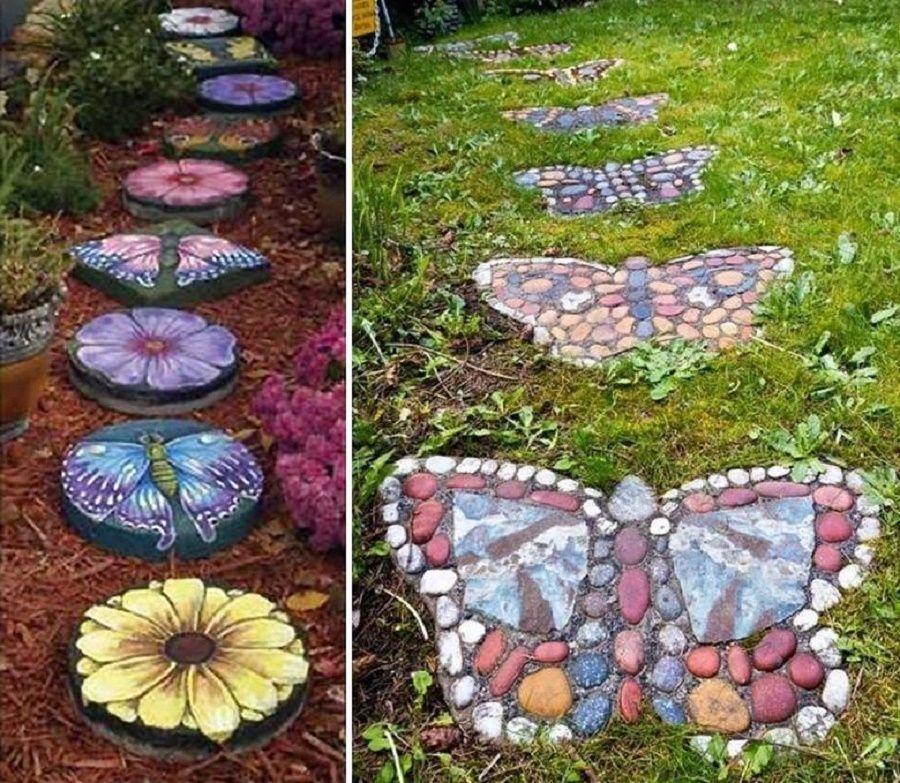 decorazioni-giardino-farfalle-sentiero