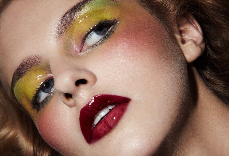 glossy-yellow-makeup