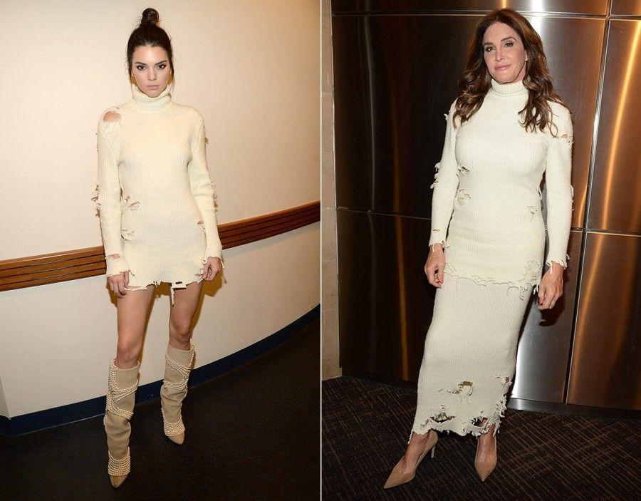 Kendall e Caitly in abiti strappati alla presetazione di Yeezy a New York