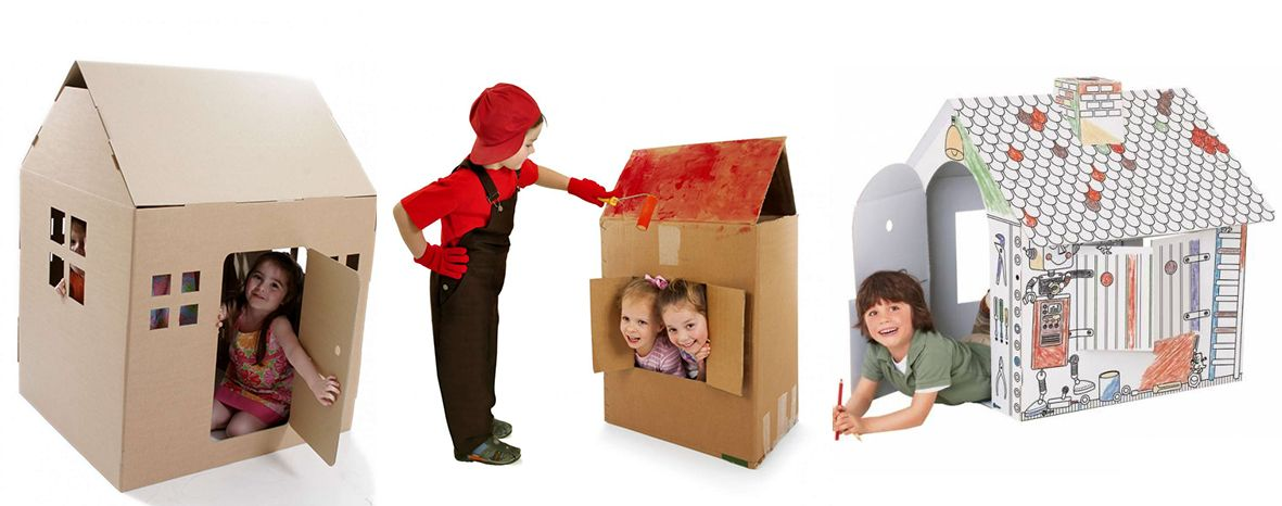 Casette di cartone per bambini fai da te