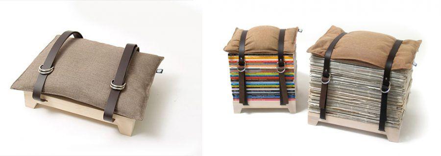 Sedute di carta riciclata
