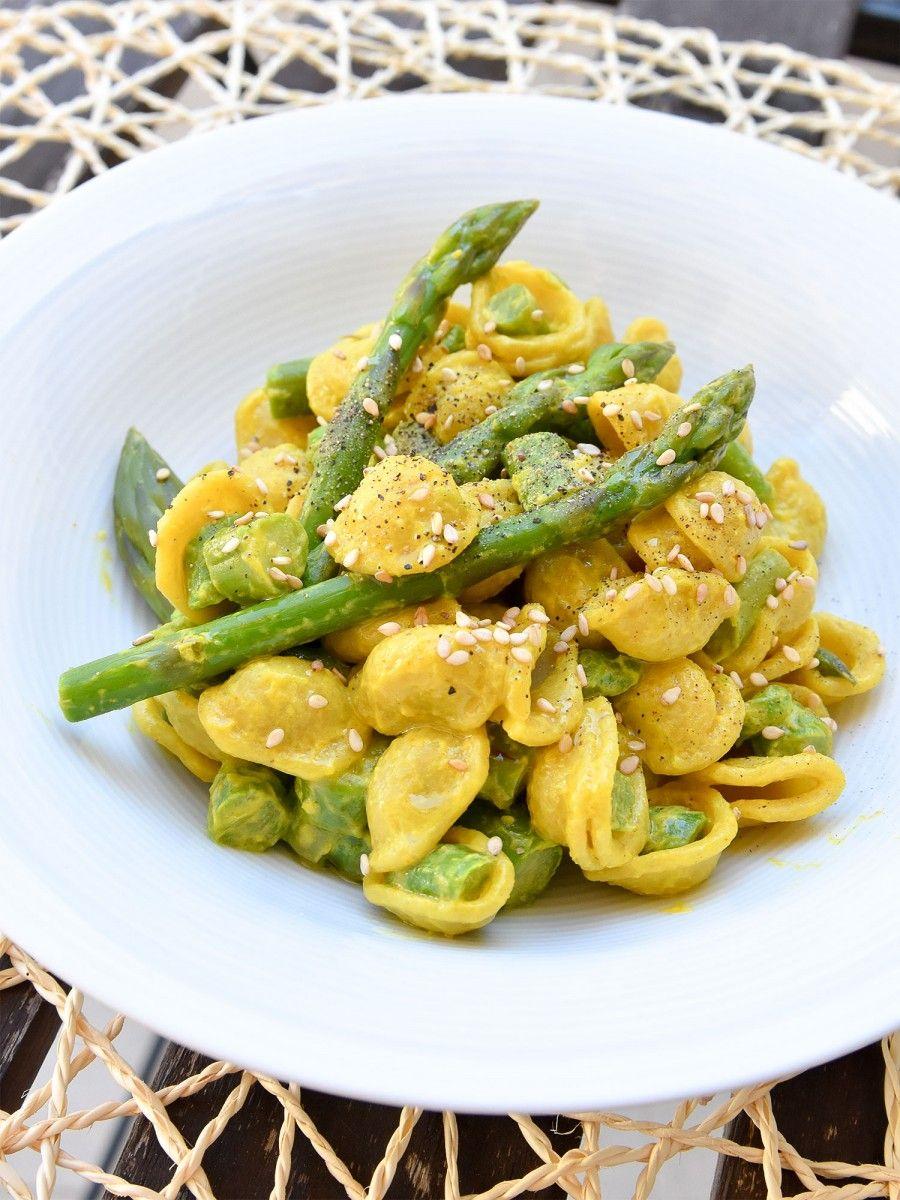 Orecchiette con asparagi e zafferano