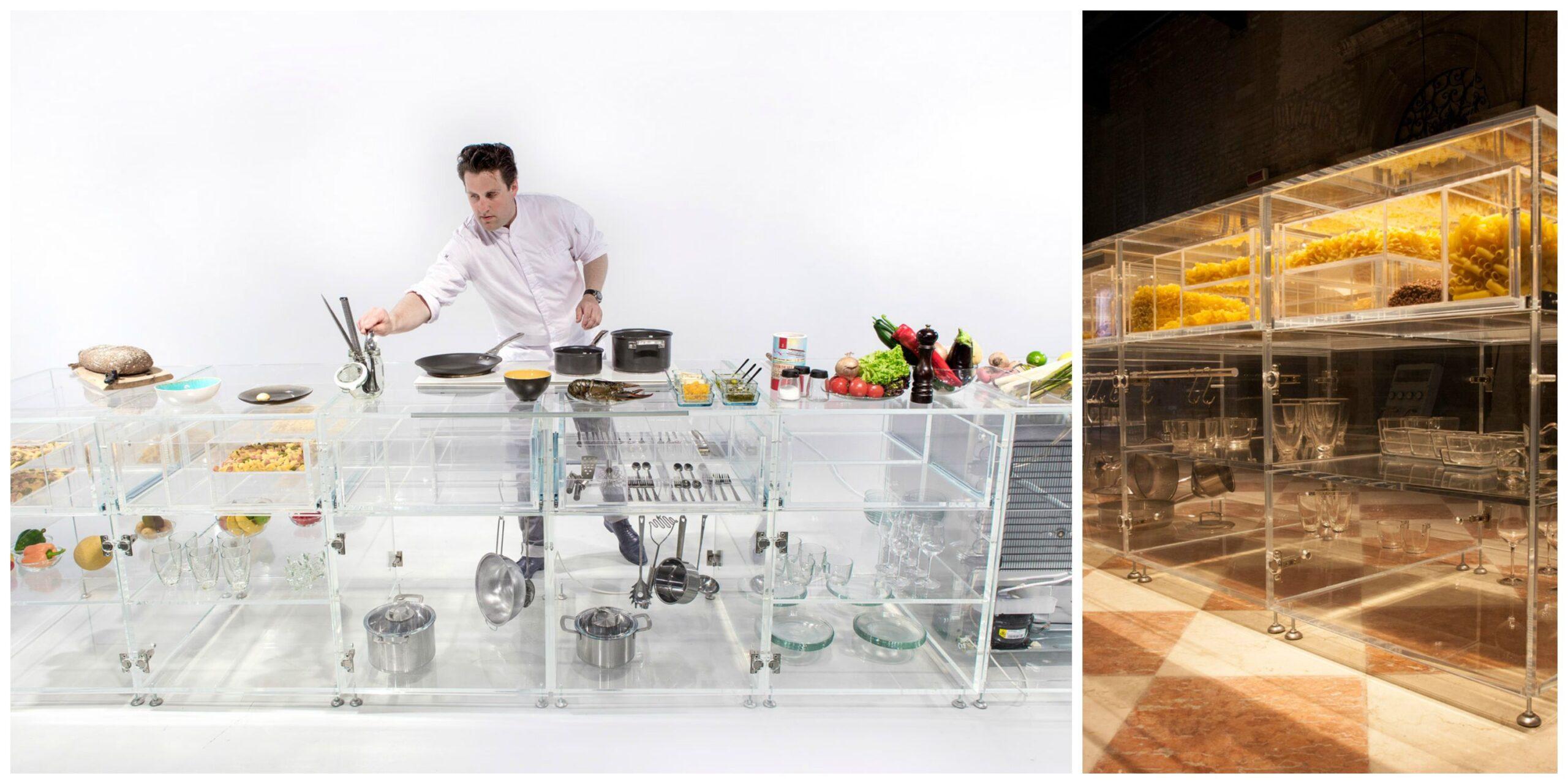 La cucina trasparente che migliora la preparazione dei cibi