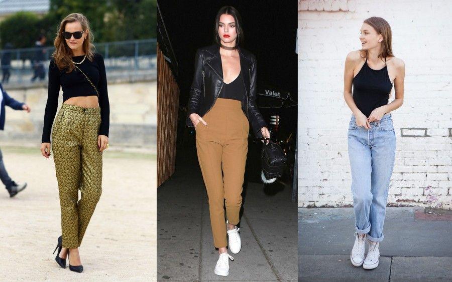 top sexy per pantaloni a vita alta