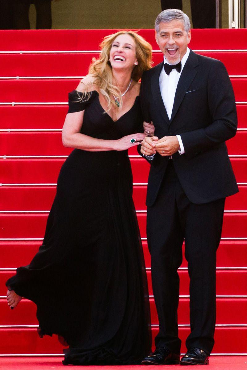 Julia Roberts e George Clooney sul red carpet