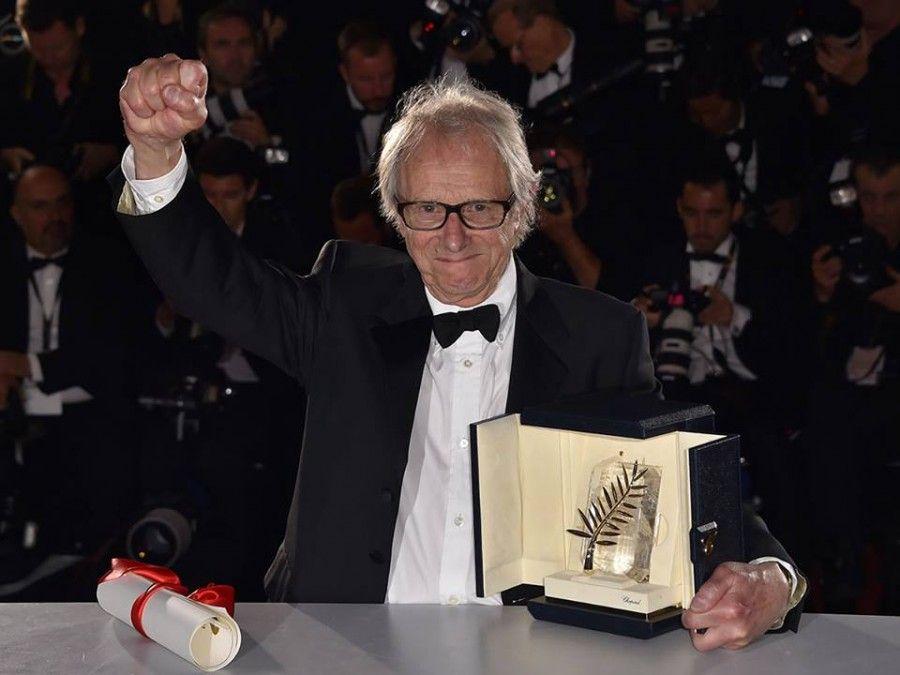 Ken Loach vince la Palma d'Oro © L. Venance / AFP