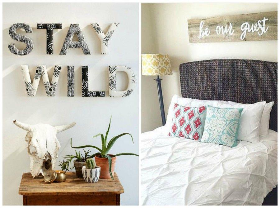 Decorare le pareti di casa con il lettering bigodino - Decorare un muro ...