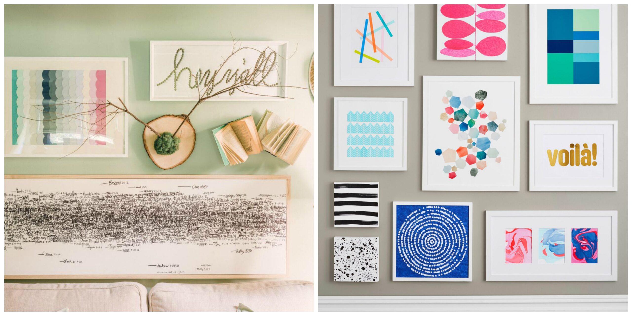4 idee per realizzare facilmente quadri decorativi DIY (video)