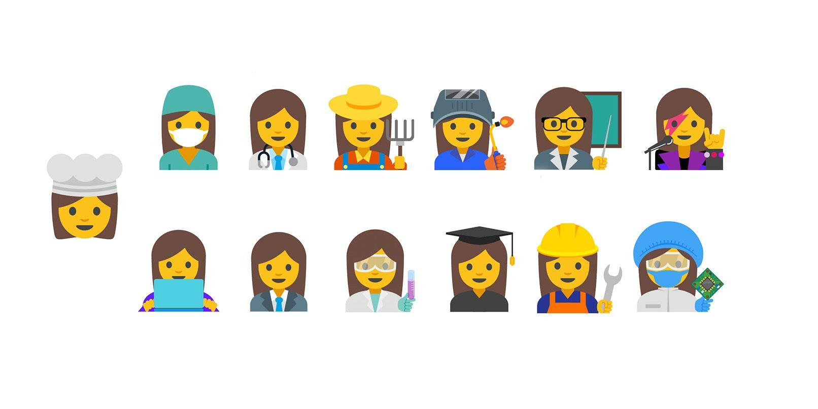 Le emoji di donne che lavorano