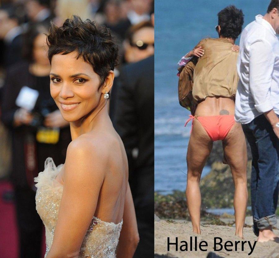 ...eh si di Halle Berry si nota immediatamente la cellulite...