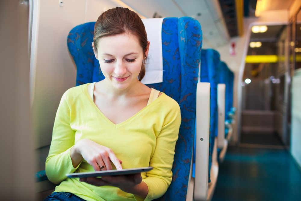 Viaggiare in treno con la mamma