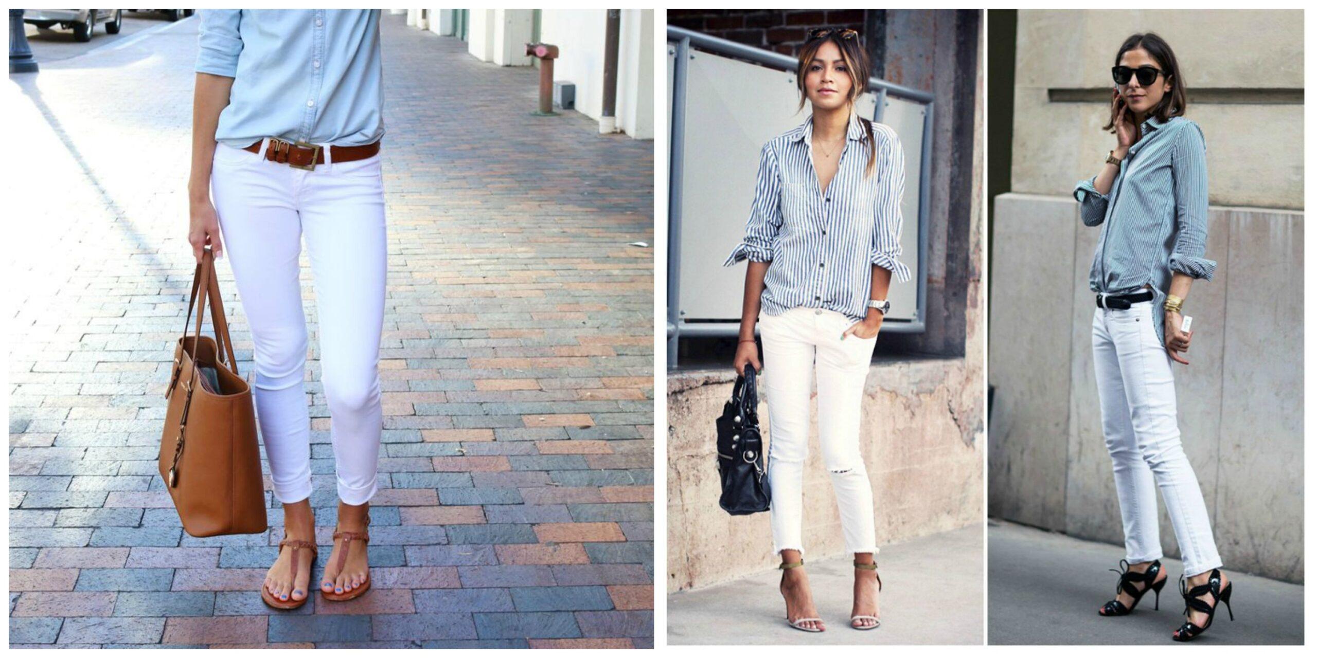 Come indossare i pantaloni bianchi senza sembrare grasse
