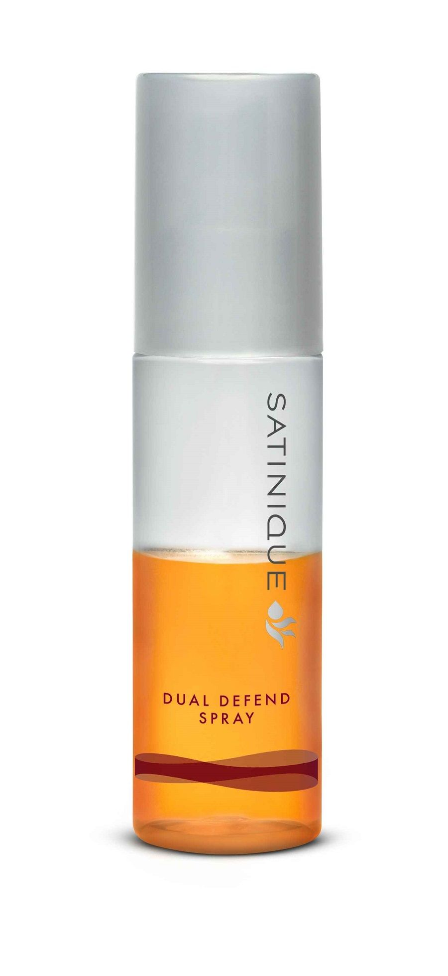 Satinique product shot. Dual Defend Spray