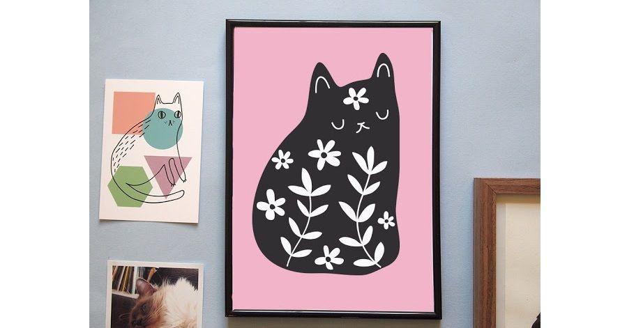 gatti-neri-quadro