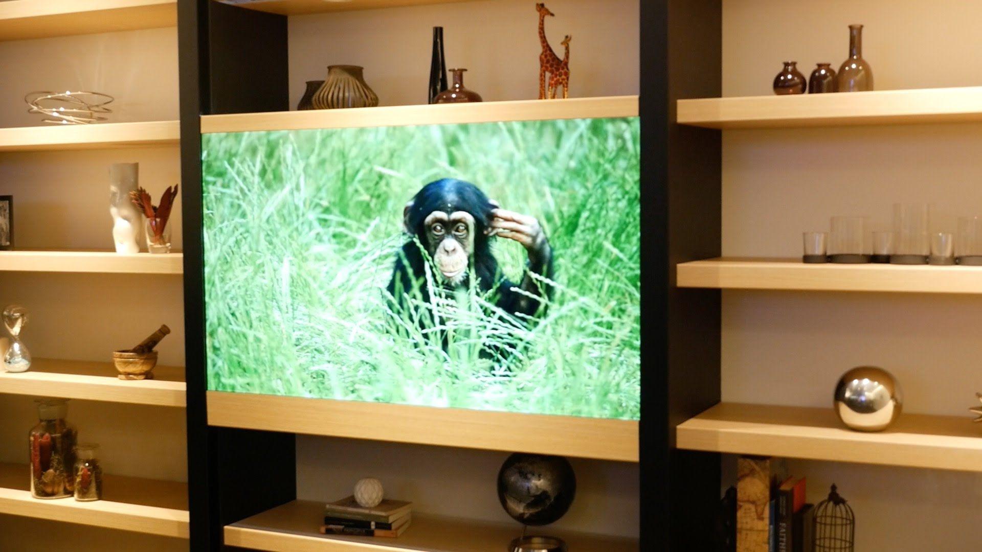 La tv trasparente che scompare quando è spenta