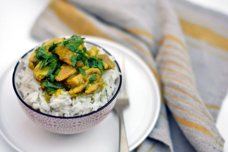 pollo al curry verde 1