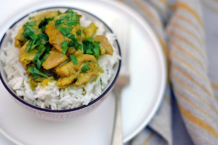 pollo al curry verde 2